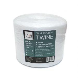 White Polypropylene Baling Twine T-800 UV - 2kg Spool