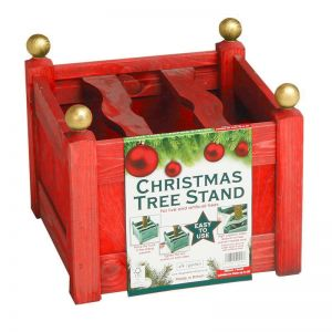 Wooden Stained Planter Style Christmas Tree Stand